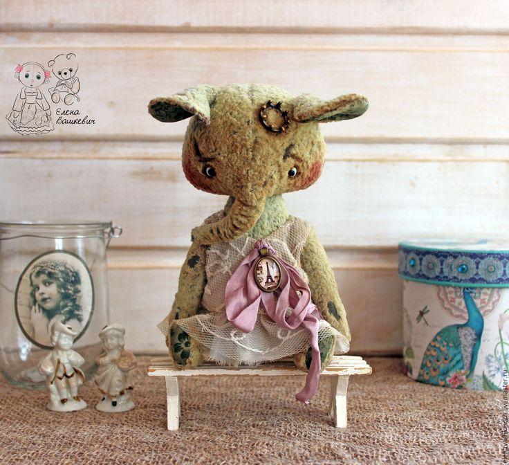 Купить Принцесса Матрена Ивановна - комбинированный, слон, слон тедди, теддик, слоненок, плюш антикварный