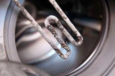 Waschmaschine entkalken: Kalk auf dem Heizstab erhöht den Energieverbrauch des Geräts.