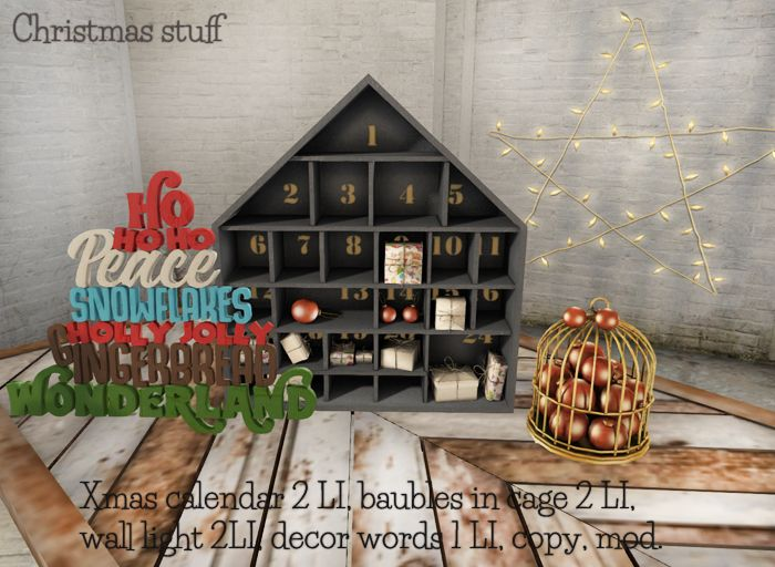CHRISTMAS STUFF PACK  Available @ Myrrine inworld store in Second Life.