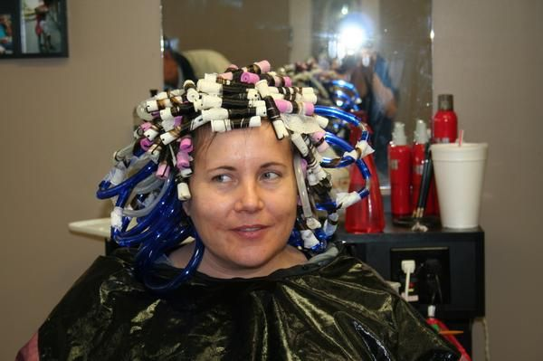 woman getting a perm - Google Search