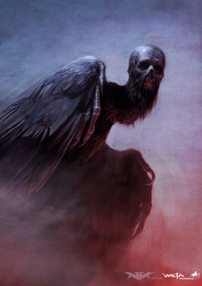 Deathly bird creature. Nick Keller works as  a Senior Concept Artist at Weta Workshop (2012).