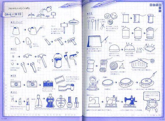 Ball Point Pen Illustration Lesson Japanese by JapanLovelyCrafts