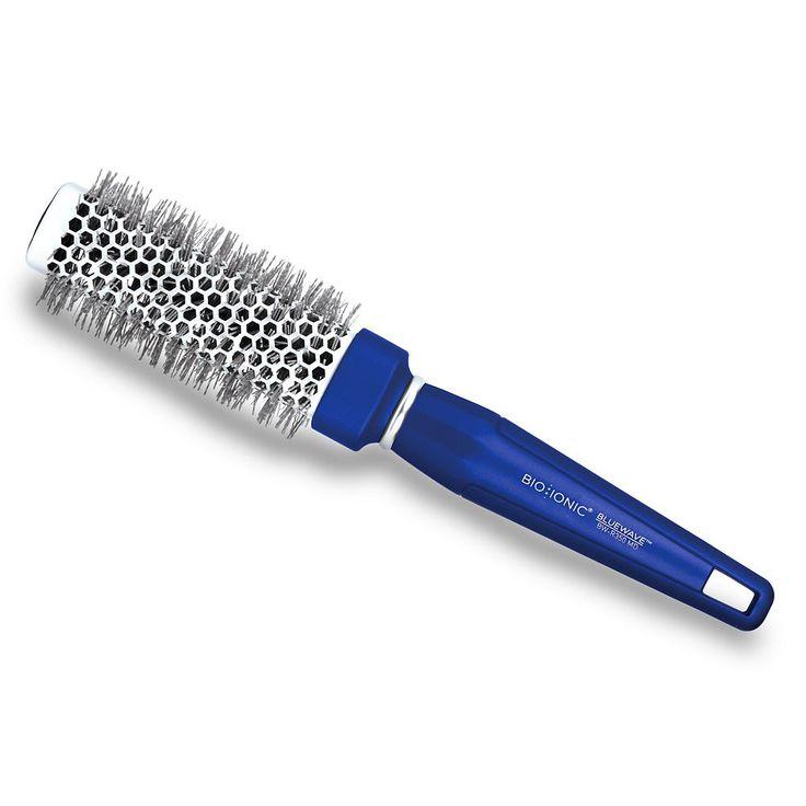 "Bio Ionic BlueWave NanoIonic Conditioning 1.25"" Square Round Hair Brush, Blue"