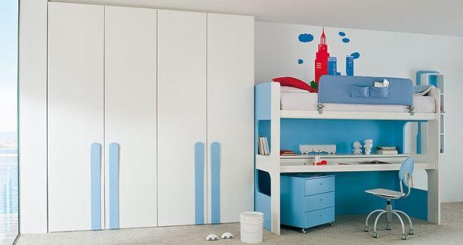Clever Hochbett Mädchenzimmer-Jungenzimmer Lösungen-Homes Italienische Möbel
