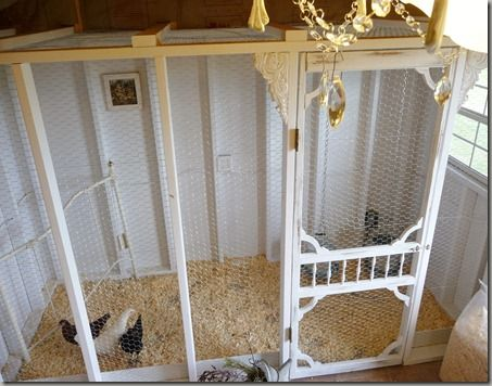 Chicken Coop w/ vintage door