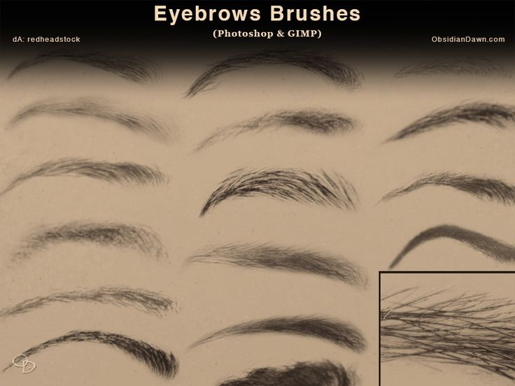 Eyebrows Photoshop and GIMP Brushes by redheadstock.deviantart.com on @DeviantArt