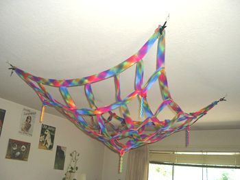Nifty play net for the ceiling for sugar gliders!