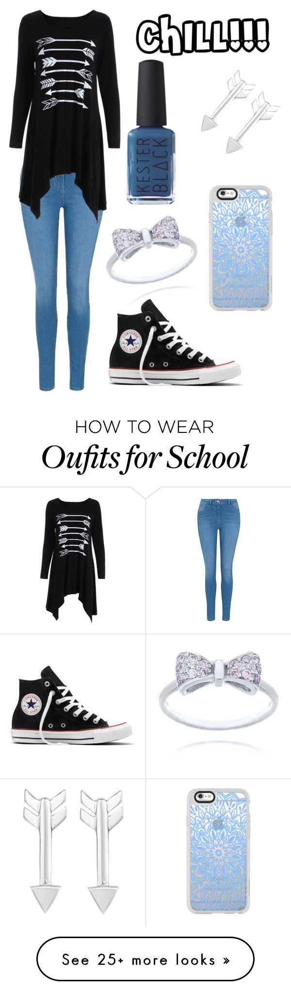 """""""School Camp"""" by pippianne17 on Polyvore featuring George, Converse, Casetify and Kester Black"""