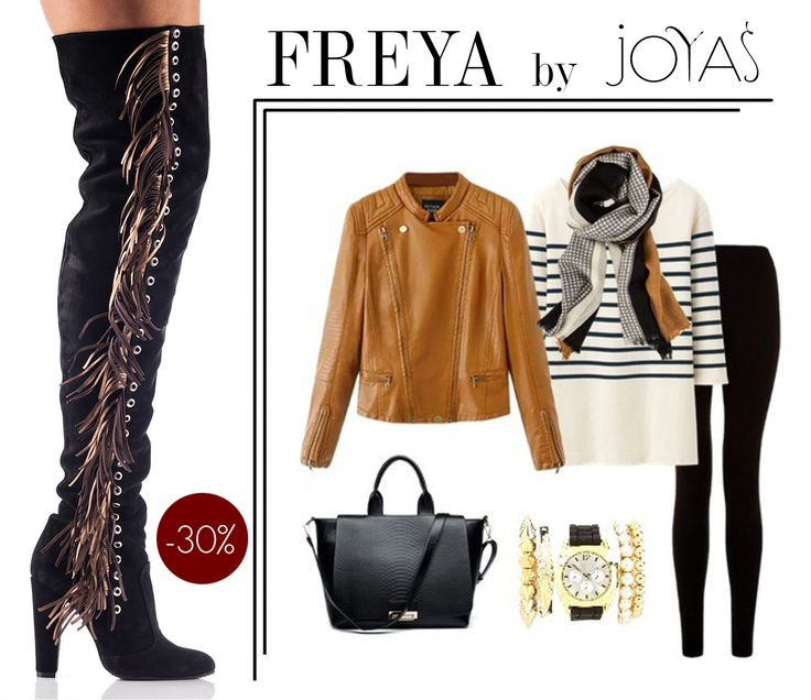 Choose the black Freya over-the-knee boots and get a 30%discount @jo