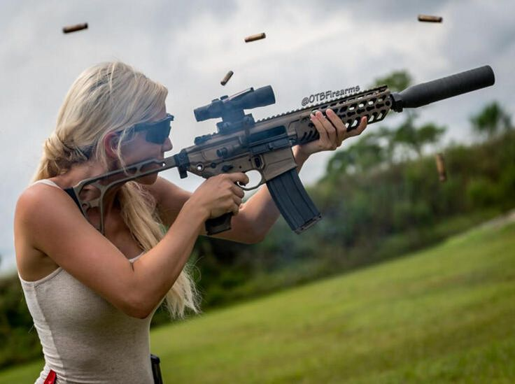 Картинки женщина с винтовкой