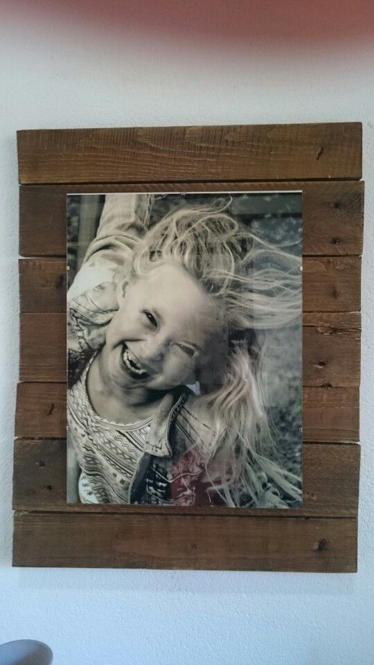 Fotolijst met oude planken