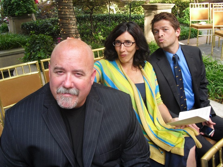 Clif with Misha and his wife Vicki.