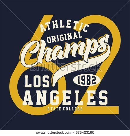 graphic ATHLETIC ORIGINAL CHAMPS for shirt and print