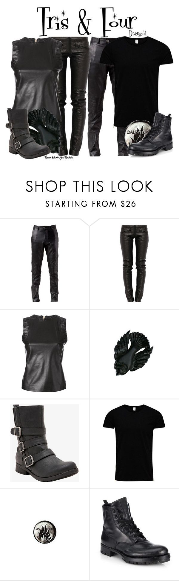 """""""Divergent"""" by wearwhatyouwatch ❤ liked on Polyvore featuring Built for Man, Preen, Dsquared2, Jack & Jones, Hot Topic, Prada, wearwhatyouwatch and film"""