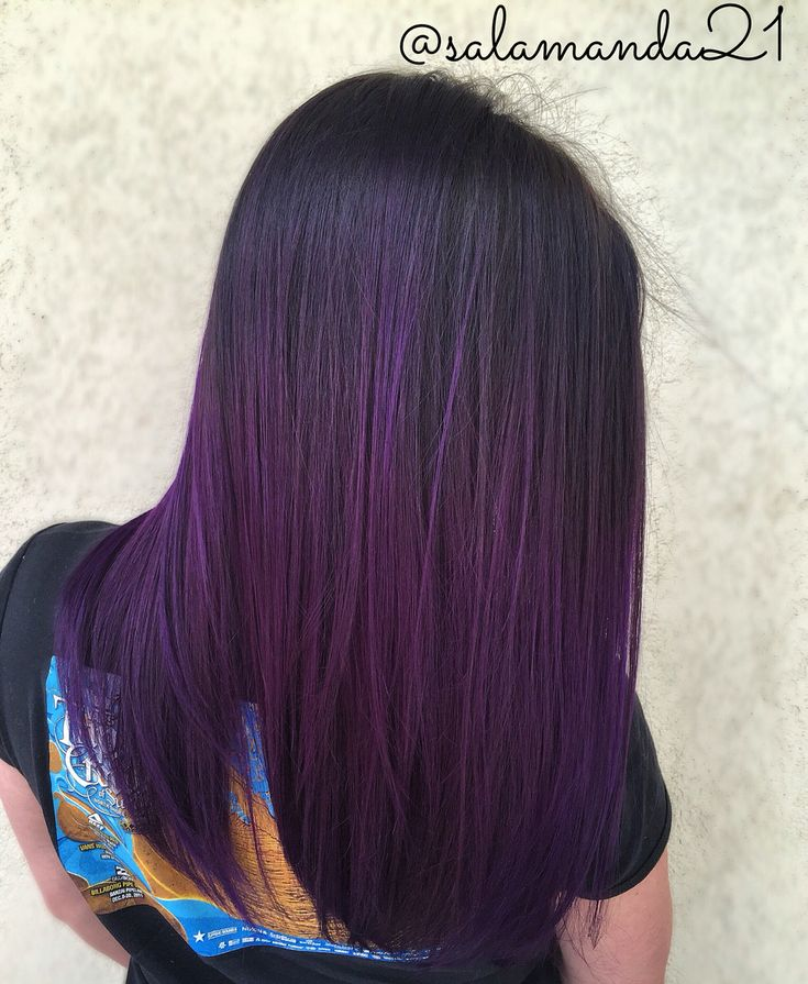 30 Black Hairstyles With Purple Highlights Hairstyles Ideas