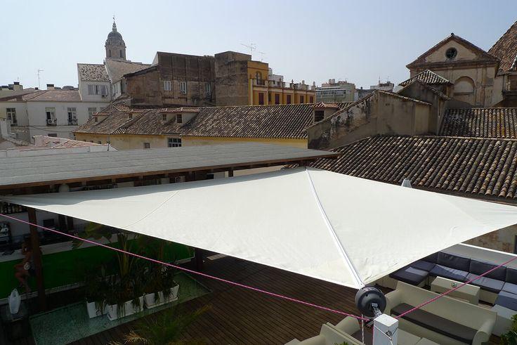 25 melhores ideias de toldos vela no pinterest tela - Toldos terraza bar ...