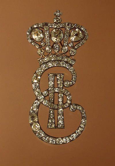 Monogram of Catherine II the Great of Russia, 1770s-1780s; Hermitage Museum.