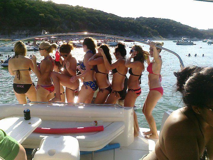 Bachelorette Parties at Lake Travis Yacht Rentals on Lake Travis, Austin, Texas