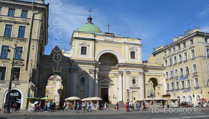 Это один из старейших католических храмов России. Проект церкви был разработан П. А. Трезини, но начавшиеся под его руководством работы были прекращены в 1751..
