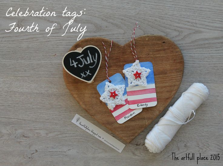 Celebration tags - America! (pack of 5) by theartfullplace on Etsy
