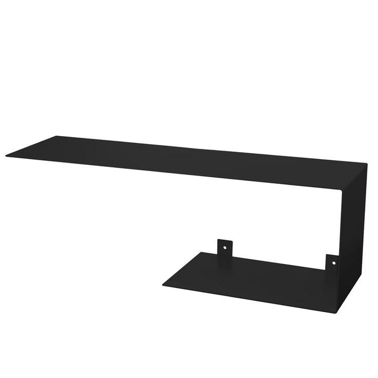 Black shelf Bent steel Gie El