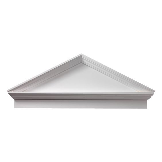 Fypon CPCP58 58'W x 62 3/8'OW x 22'H x 3 1/8'P, Pitch 6/12 Combination Peaked Cap Pediment, Urethane >>> Hurry! Check out this great product : Home Decor Wall Pediments