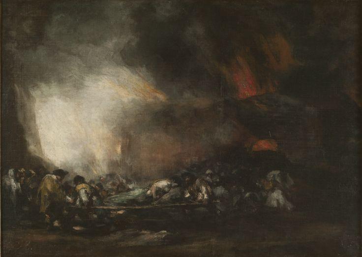 "| Francisco José de Goya y Lucientes | ""Incendio de un hospital"" | ca. 1808-12 | Óleo sobre tela | 72 x 99 cm. - Marco: 100,5 x 128 cm. | Inv. 6986 | http://www.mnba.gob.ar/coleccion/obra/6986 |"
