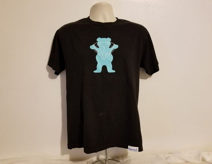 Grizzly Griptape Diamond Supply Company Adult Medium Black T-Shirt #DiamondSupplyCo #GraphicTee