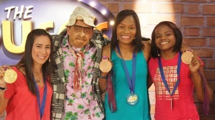 Invitadas de hosnor: Mariana Pajón, Jaqueline Renteria y Yuri Alvear. Medallistas Olímpicas (Colombia)
