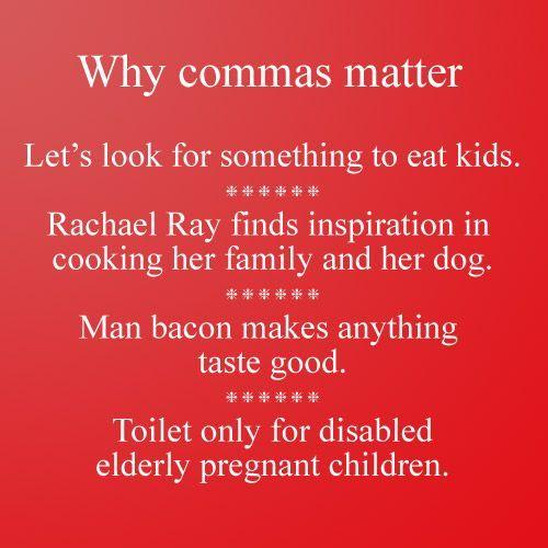 Why commas matter #grammar #punctuation