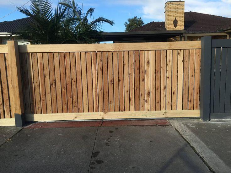 Wood Fence Driveway Gate