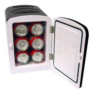 Mini Fridge Cooler / Warmer Mini Cooler & Warming personal fridge AC/DC Black:Amazon:Kitchen & Dining