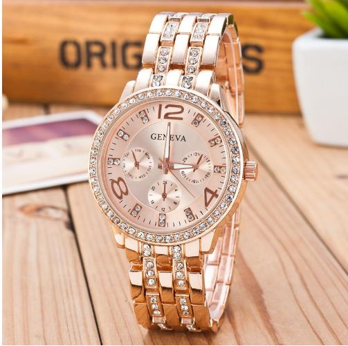 2017 New Famous Brand Gold Crystal Geneva Casual Quartz Watch Women Stainless Steel Dress Watches Relogio Feminino Men Clock Hot Rated 4.8 /5 based on 53 customer reviews  4.8 (53 votes) 1121 orders Sale starts in 3 days Add to your cart to save more Price: US $4.99 / piece