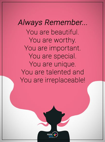 Always Remember... You are beautiful. You are worthy. You are important. You are unique. You are talented and You are irreplaceable. #powerofpositivity #positivewords #positivethinking #inspirationalquote #motivationalquotes #quotes #life #love #hope #faith #respect #beautiful #worthy #important #unique #talented #trust #truth #trust