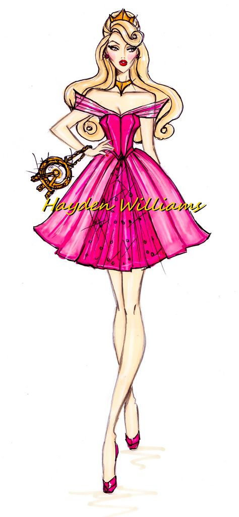 """Aurora""  [The Disney Diva's Collection]    Illustrator & Fashion Designer ~Hayden Williams~  [July 26 2012]"