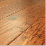 Engineered Wood Flooring: Hand Scraped Hickory Engineered Wood Floor