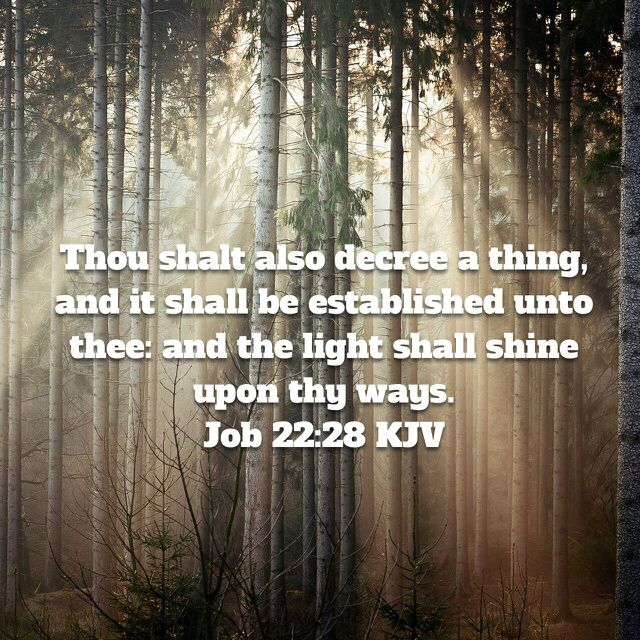 Job 22:28 (With images) | Inspirational scripture, Bible apps ...