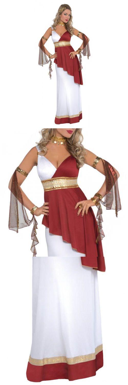 Women Costumes: Roman Goddess Costume Adult Greek Empress Halloween Fancy Dress -> BUY IT NOW ONLY: $29.29 on eBay!