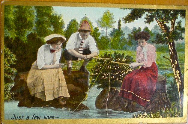Vintage Summer Postcards   Fishing, Vintage Postcards ...