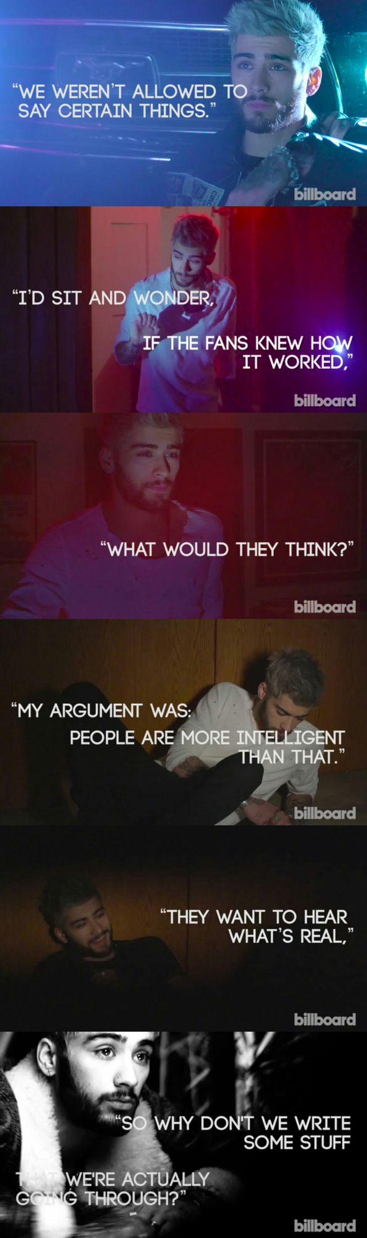 Zayn Malik Quotes from Billboard Interview