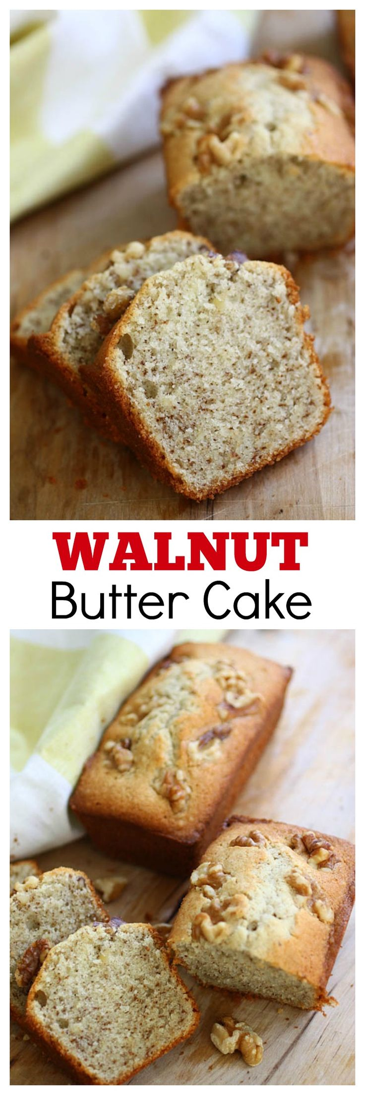 Walnut Butter Cake - rich and sweet butter cake LOADED with ground walnut, the best cake ever | rasamalaysia.com