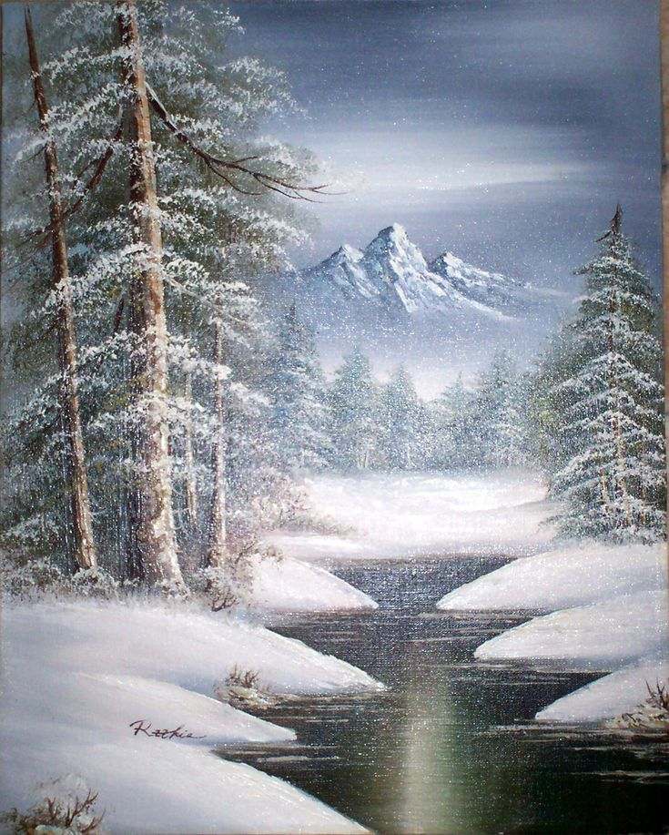 Image Gallery of Snowy Christmas Tree Scene