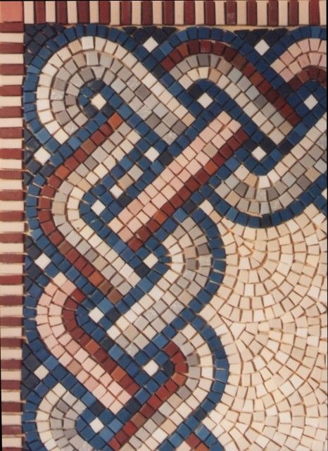 the windmill tile natural stone reproduction of ancient roman mosaic found in troas
