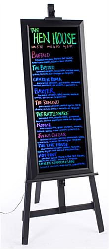 "These LED illuminated message boards with easel provide an ""all-in-one"" advertising stand! The signs are the perfect size and shape for writing out and displaying specialty menu items."