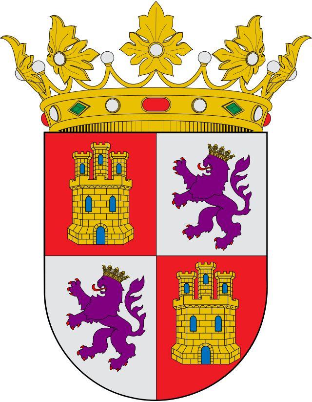 Escudo heráldico de Castilla y León - Castilla y León -España.  Es una comunidad autónoma de España, referida como «comunidad histórica» y «cultural» en su Estatuto de Autonomía.7 Constituida formalmente en 1979, adquirió estatus de comunidad autónoma de pleno derecho en 1983. Su territorio se sitúa en la parte norte de la meseta de la península ibérica y se corresponde mayoritariamente con la parte española de la cuenca hidrográfica del Duero.
