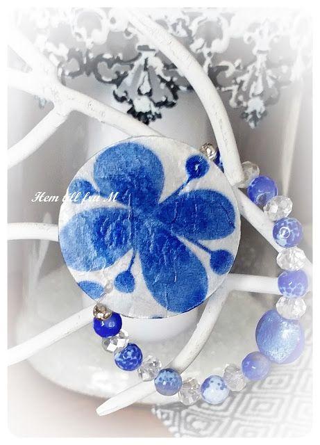 Hem till fru M: Smycken med decoupage
