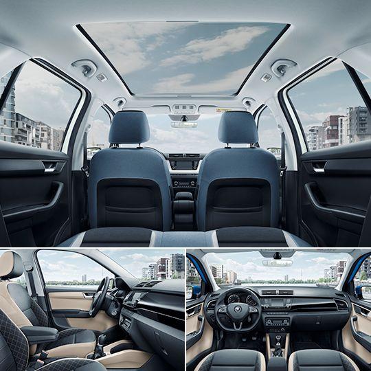 Usiądź wygodnie i ciesz się wybitnie funkcjonalnym samochodem.    ponownie największy bagażnik w swojej klasie (w wersji hatchback pojemność 330l, a po złożeniu siedzeń aż 1.150l) mnóstwo przestrzeni dla podróżujących i ich bagażu przestronność przy jednoczesnych kompaktowych rozmiarach różnorodne wersje wyposażenia wnętrza i kolorowe tapicerki nowe rozwiązana SimplyClever