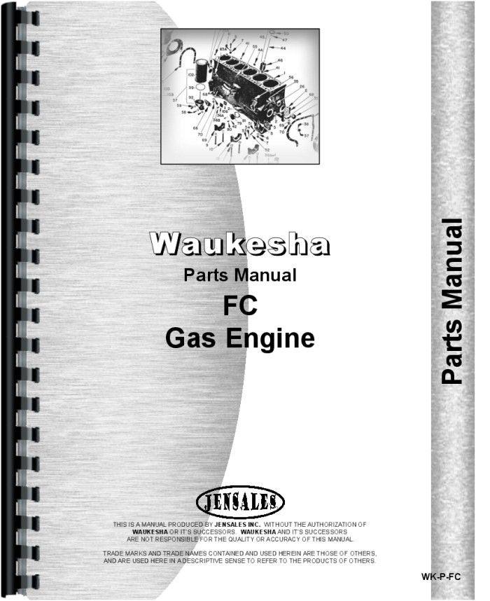 Hough HA-B Pay Loader Waukesha Engine Parts Manual