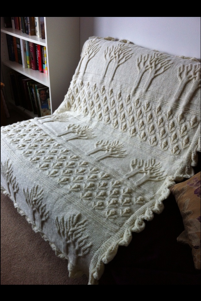 I am working on this afghan for my sister's 50th wedding anniversary -- which was December 2013. (It's late, but it's worth it.)