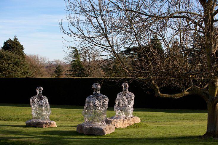 jaume plensa at the yorkshire sculpture park